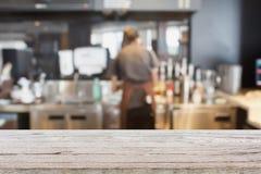 Cozinha da loja do café do café Imagem de Stock Royalty Free