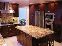 Cozinha da parte alta Fotografia de Stock Royalty Free