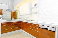 Cozinha de madeira imagem de stock