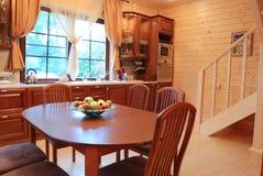 Cozinha de madeira Imagens de Stock
