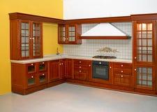 Cozinha de madeira Fotografia de Stock Royalty Free