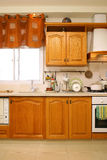 Cozinha de madeira Foto de Stock