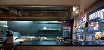 Cozinha de um restaurante Fotos de Stock Royalty Free
