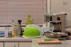 Cozinha desarrumado Imagem de Stock