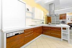 Cozinha do ângulo imagem de stock
