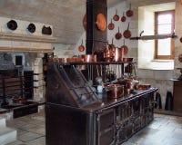 Cozinha do castelo de Medival Fotos de Stock Royalty Free