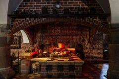 Cozinha do estilo antigo fotografia de stock royalty free