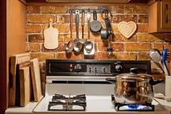 Cozinha do estilo de país Imagens de Stock Royalty Free