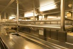 Cozinha do restaurante Imagem de Stock