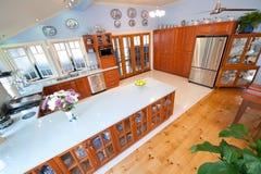 Cozinha do Woodgrain Foto de Stock Royalty Free
