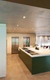 Cozinha doméstica moderna Foto de Stock Royalty Free