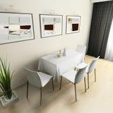 Cozinha doméstica moderna Imagem de Stock Royalty Free