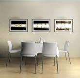 Cozinha doméstica moderna Fotos de Stock Royalty Free