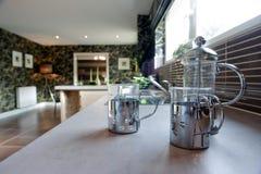 Cozinha e contadores Fotos de Stock
