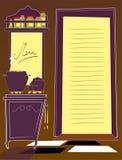 Cozinha e menu Fotos de Stock