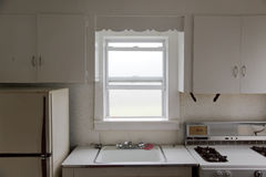 Cozinha e névoa no indicador imagem de stock royalty free