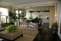 Cozinha e quarto de família   Imagens de Stock