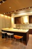 Cozinha e quarto dinning foto de stock