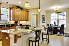 Cozinha elegante Fotografia de Stock Royalty Free