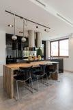 Cozinha elegante, elegante foto de stock