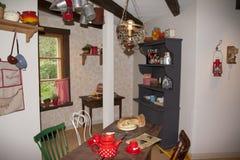 Cozinha em Moominhouse em Moominworld Foto de Stock Royalty Free