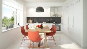 Cozinha escandinava moderna Fotografia de Stock