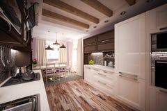 Cozinha feita sob encomenda Fotos de Stock