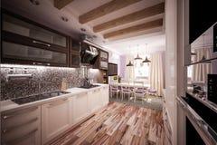 Cozinha feita sob encomenda Imagens de Stock