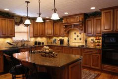 Cozinha feita sob encomenda Imagem de Stock