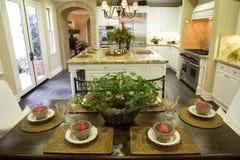Cozinha home luxuosa Imagens de Stock Royalty Free