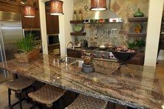Cozinha home luxuosa Fotografia de Stock