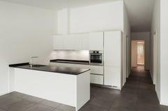 Cozinha interior, doméstica Fotografia de Stock