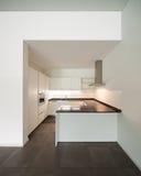 Cozinha interior, doméstica Imagem de Stock Royalty Free