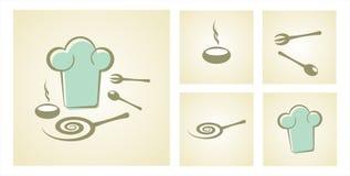 Cozinha, jogo do cozinheiro chefe Fotografia de Stock