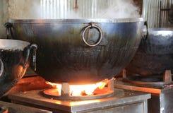 A cozinha livre a maior do mundo de Harmandir Sahib (templo dourado) Foto de Stock Royalty Free