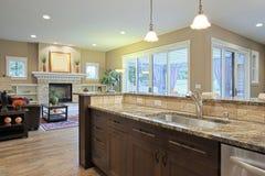 Cozinha luxuosa Fotos de Stock Royalty Free