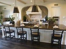 Cozinha luxuosa fotografia de stock