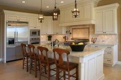 Cozinha luxuosa moderna Fotografia de Stock