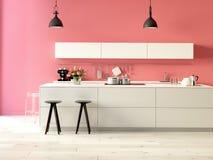 Cozinha luxuoso com dispositivos de aço inoxidável Fotos de Stock