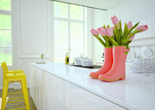Cozinha luxuoso rendição 3d Imagem de Stock Royalty Free