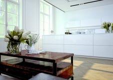 Cozinha luxuoso rendição 3d Imagens de Stock Royalty Free
