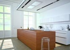 Cozinha luxuoso rendição 3d Imagem de Stock