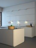 Cozinha minimalista moderna Fotografia de Stock