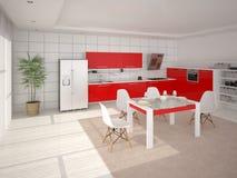 Cozinha moderna à moda Ilustração Stock