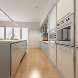 Cozinha moderna ilustração royalty free