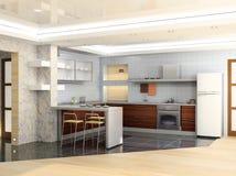 Cozinha moderna Imagem de Stock