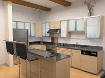 A cozinha moderna Imagens de Stock