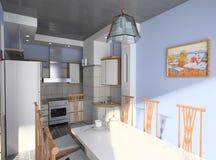 A cozinha moderna Imagem de Stock Royalty Free