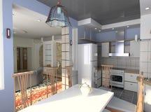 A cozinha moderna Fotografia de Stock Royalty Free
