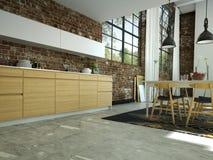 Cozinha moderna Imagens de Stock